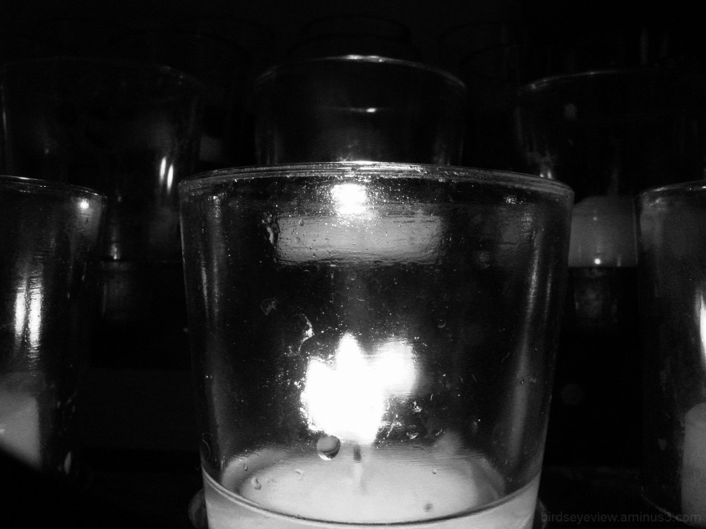 black & white candle