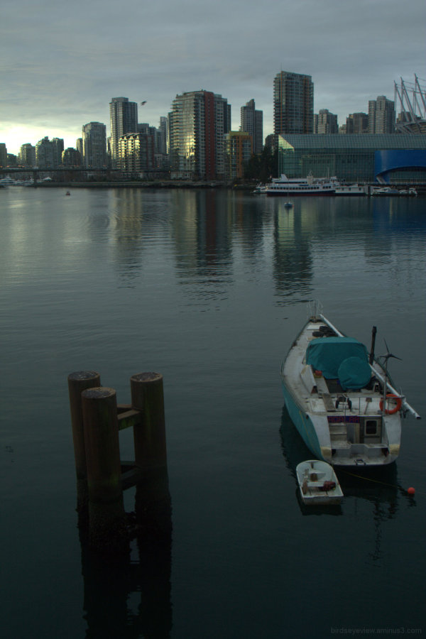 sunset on false creek