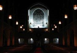 choir rehearsal in the semi-dark