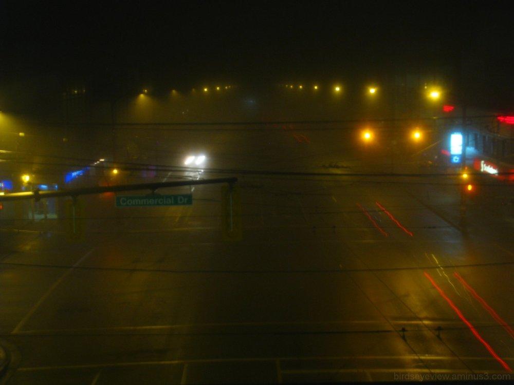 foggy empty road