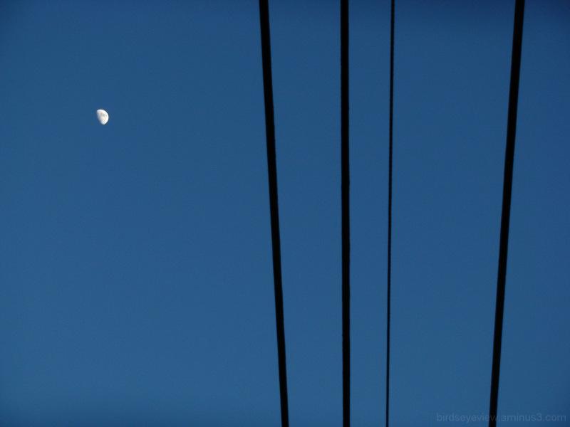 blue, moon, black