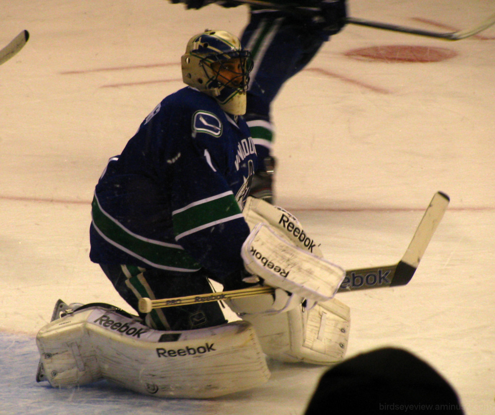 vancouver canucks warmup