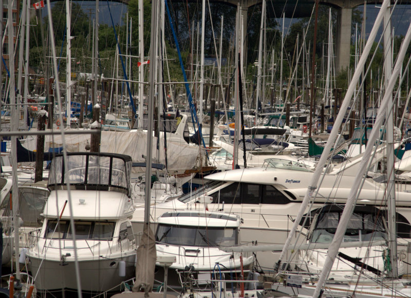boats at granville island