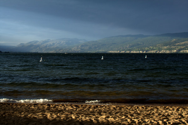 end of day rays in penticton