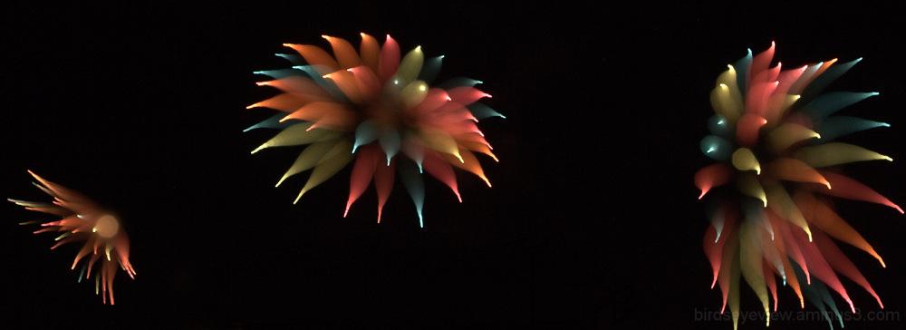 undersea creature fireworks