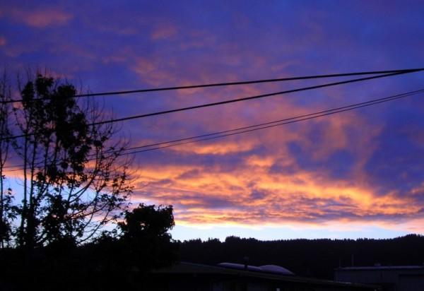 Morming sky in Arcata, California
