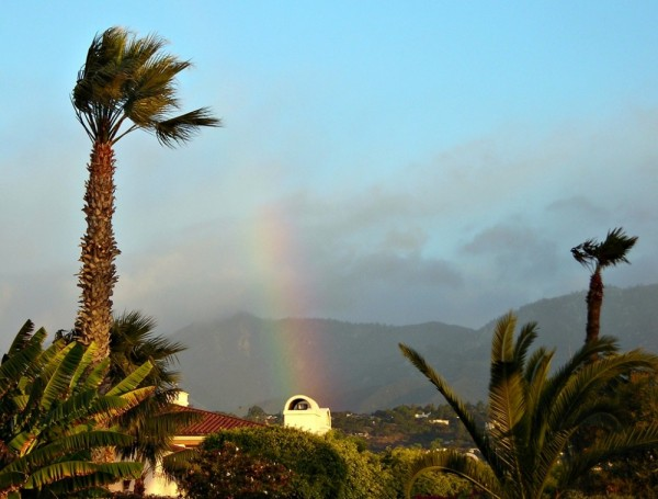 Rainbow above Santa Barbara