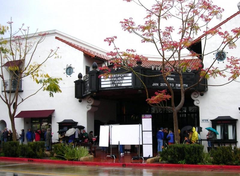 Rainy Day at the Santa Barbara Film Festival