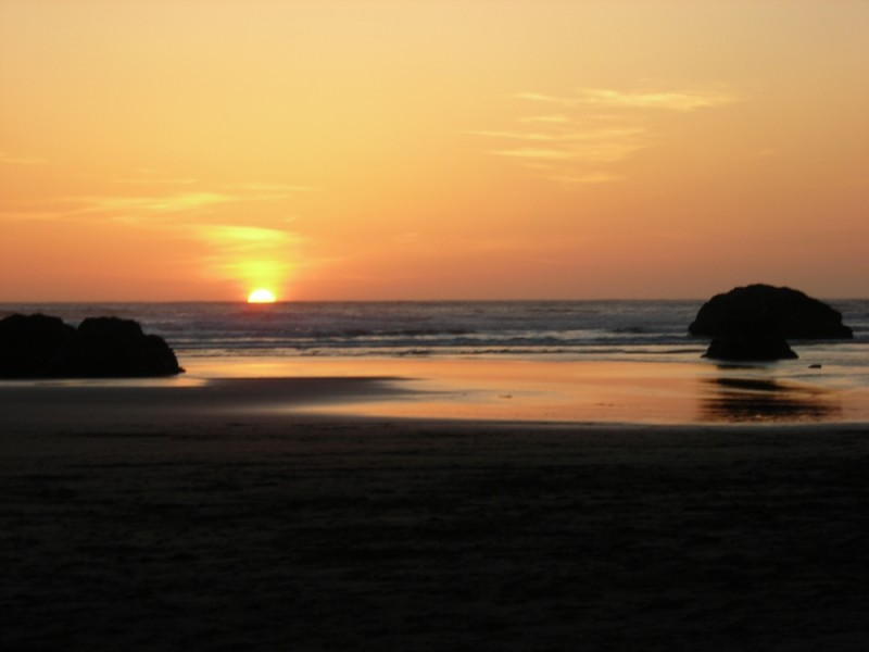 Sunset at Moonstone Beach in Humboldt County, Cali