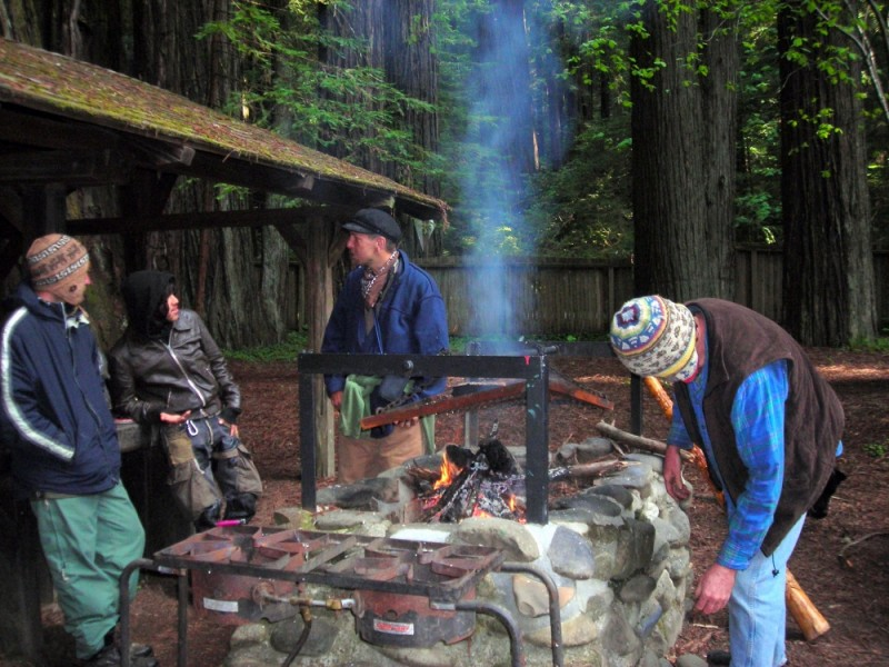 Campers at Grizzly Creek Redwoods State Park