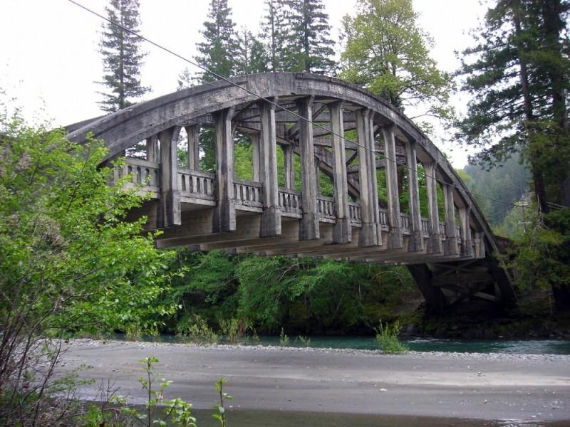 Old bridge over the Van Duzen Riverin Humboldt