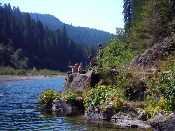Activists at Grizzly Creek State Park, California