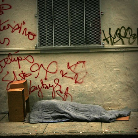 homeless person sleeping in San Francisco
