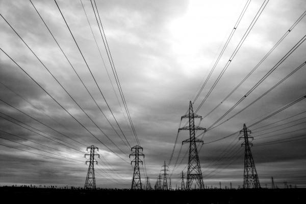 Paysage de pylones d'Hydro-Québec