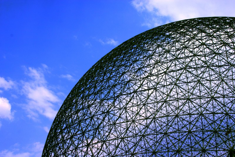 A Buckminster geodesic dome