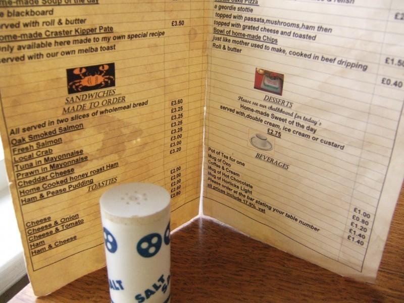 ye olde menu
