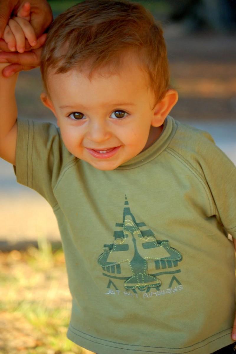 toddler at Hermann Park in Houston, TX