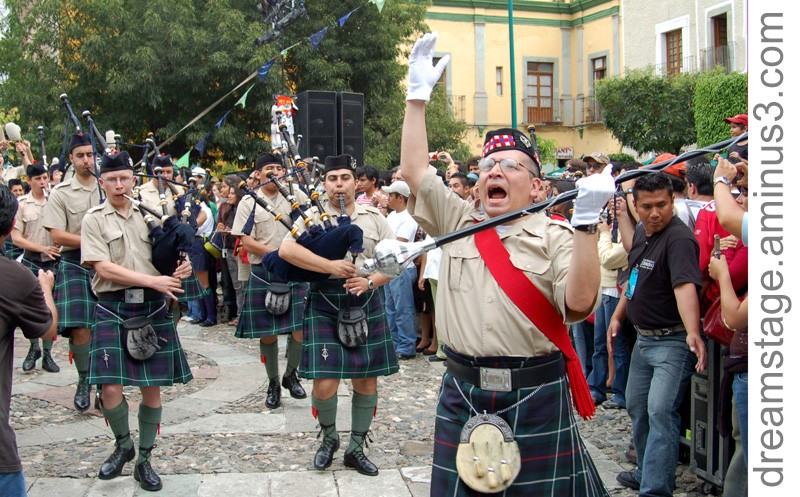 Bagpipers in Mexico