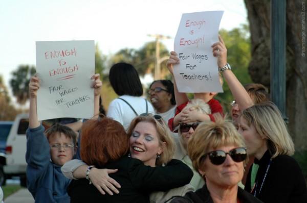Teacher's Union Rally