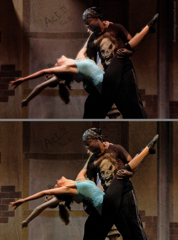 Dancers in rehearsal w/filter composite