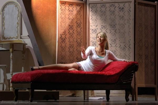 reclining singer in light