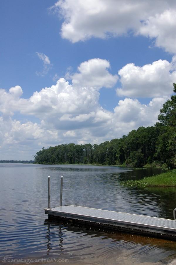 Lake Diaz pier Volusia County, Florida.