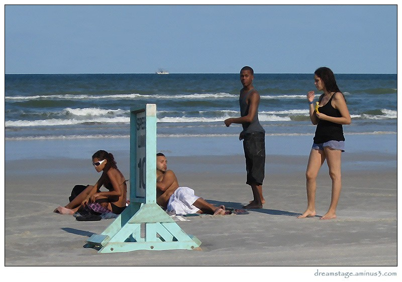 people at the beach