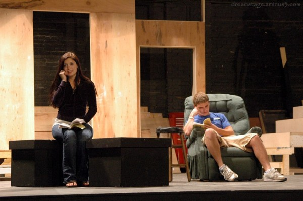 actors in rehearsal for how the other half loves