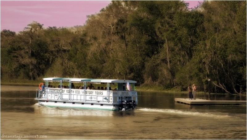 tour boat at deleon springs