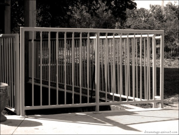 railing at the deleon springs mill house