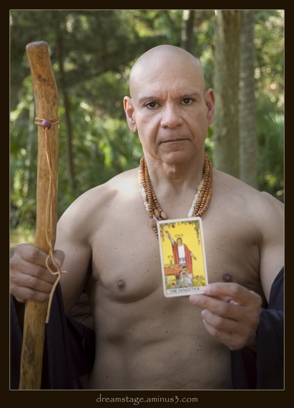 Shaman with Tarot and Staff