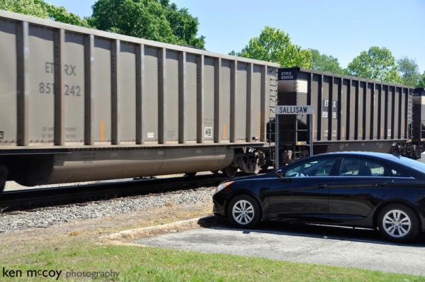 Train Passing Rental Car