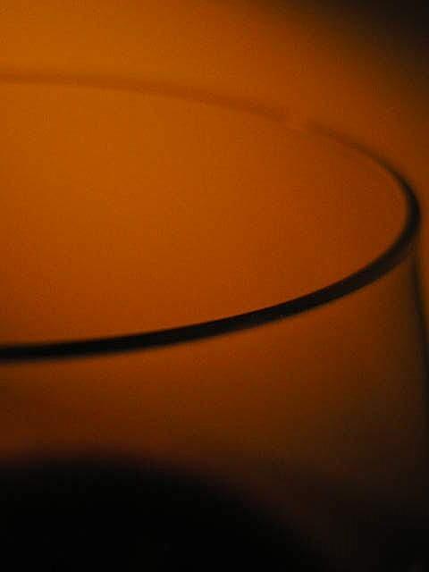 bord du verre