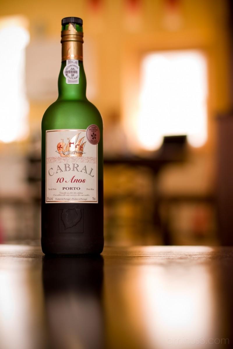 A bottle of Porto