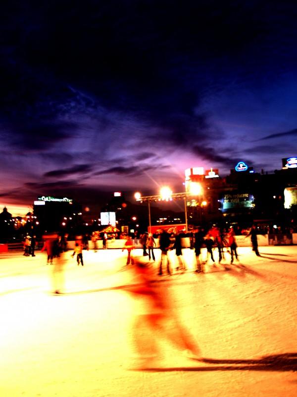 skating ring landscape