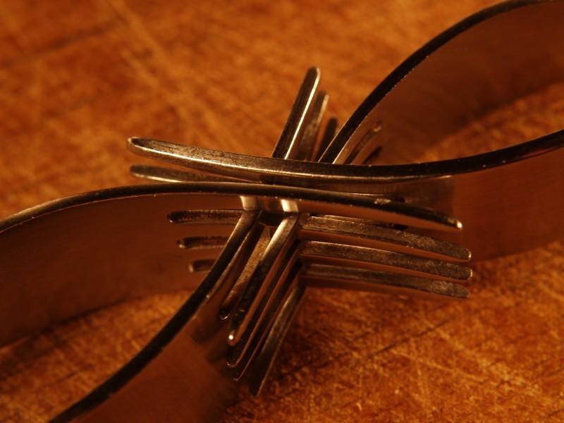 fork sculpture