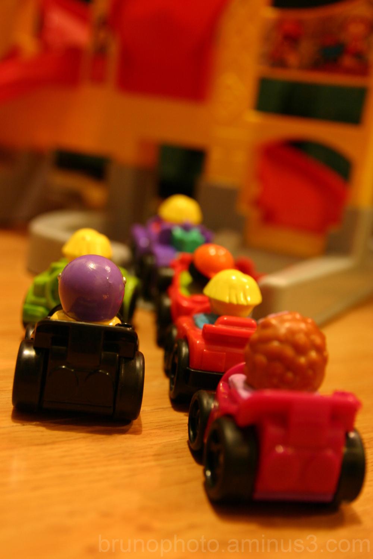 Traffic jam in toy land