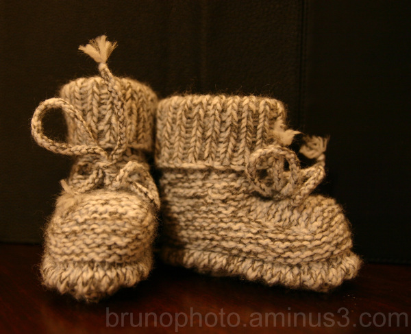 Petit chaussons de laine / Wool Baby Slippers