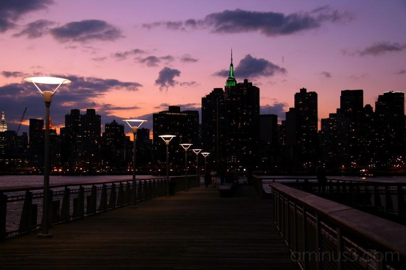 The dock facing Manhattan