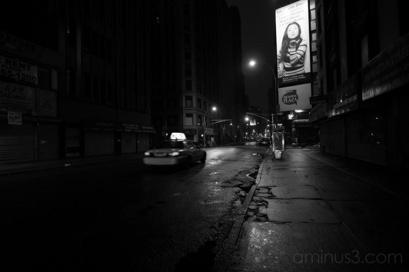 Dark atmosphere on Broadway in the 20's