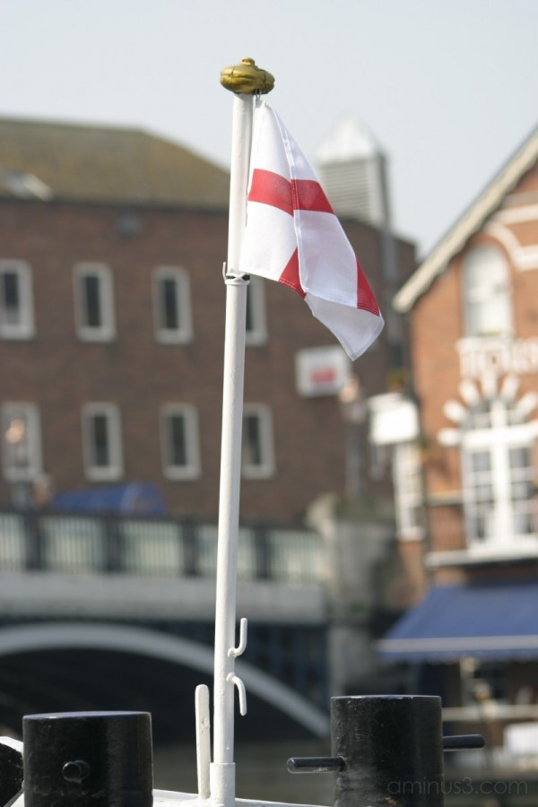 St George's Cross on the Thames by Craig Brophy