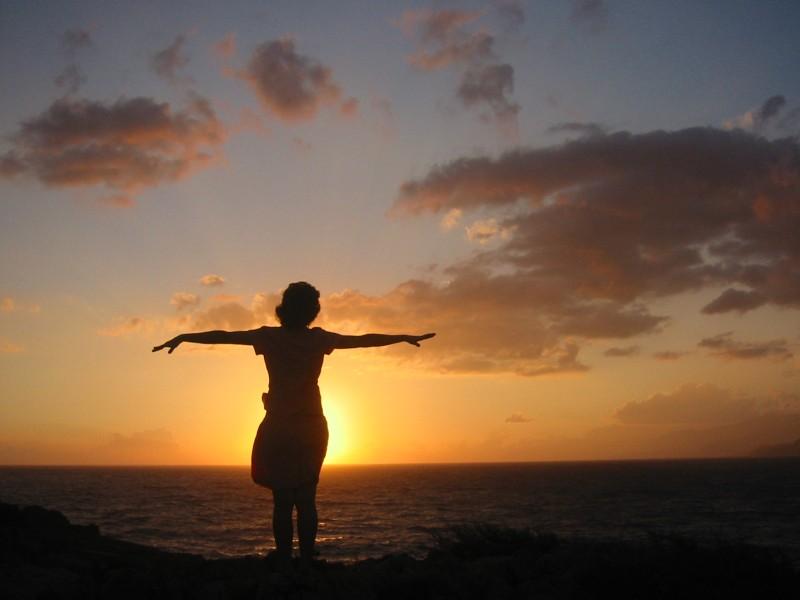 enjoying the sunset in south Crete
