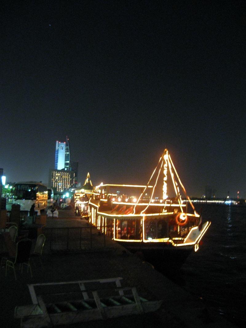 lets take a boat ride in Dubai