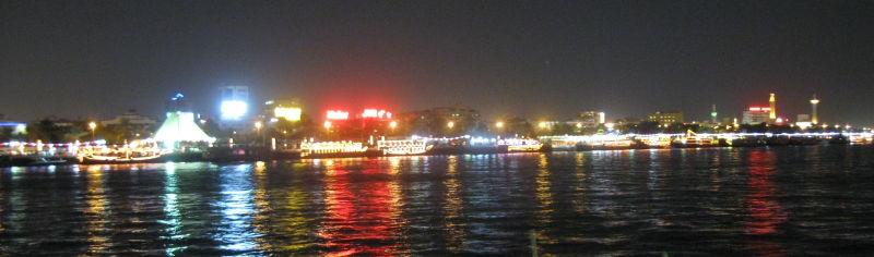 night view in Dubai