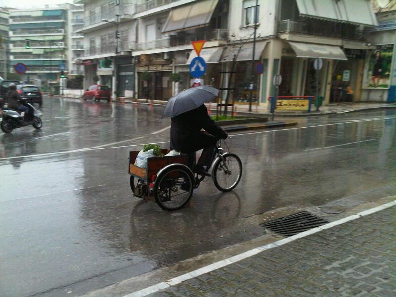 him and the rain