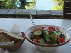 a salad made in Greece