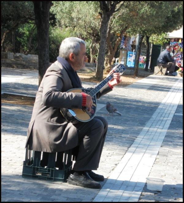 the bouzouki player