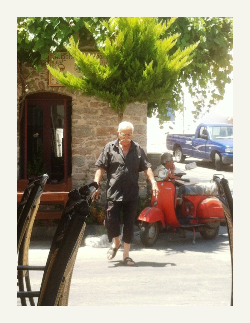easy rider in Tilos comes straight at me!