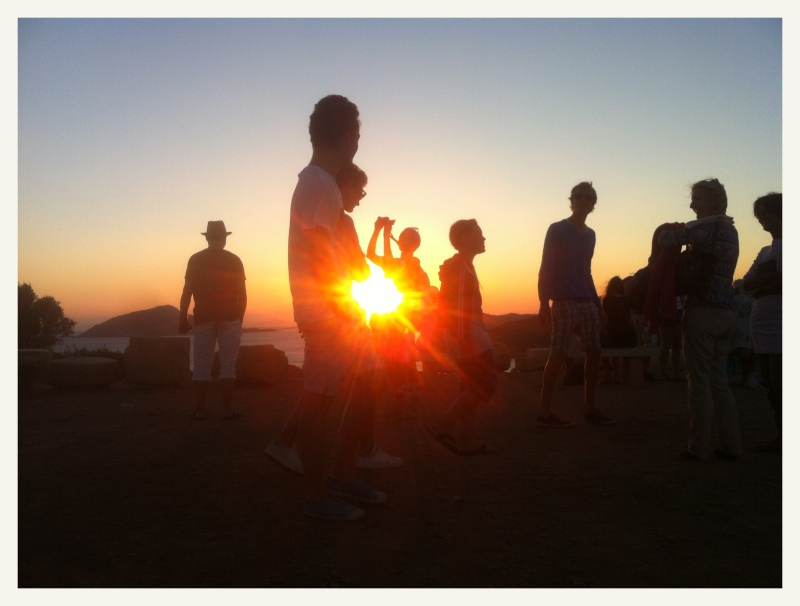 Sounion sunset 1