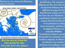 meltemi, the strong summer wind in the Aegean